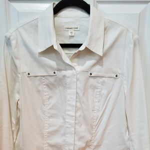 Coldwater creek snap  front shirt Jacket size 12